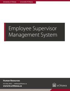 Employee Supervisor Management System. Level2 User