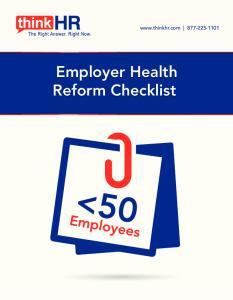 Employer Health Reform Checklist