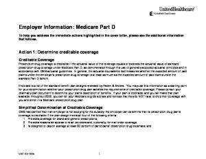 Employer Information: Medicare Part D