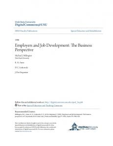Employers and Job Development: The Business Perspective