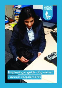Employing a guide dog owner: - access requirements