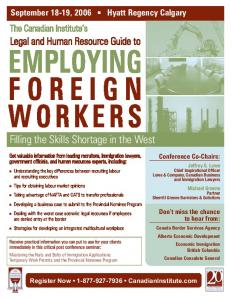 EMPLOYING FOREIGN WORKERS