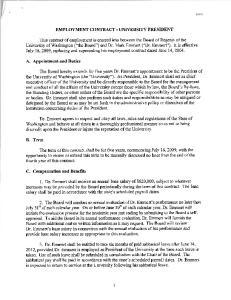 EMPLOYMENT CONTRACT - UNIVERSITY PRESIDENT