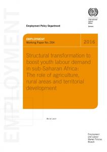 EMPLOYMENT EMPLOYMENT. Working Paper No Employment Policy Department. Employment and Labour Market Policies Branch