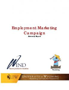 Employment Marketing Campaign. Summary Report