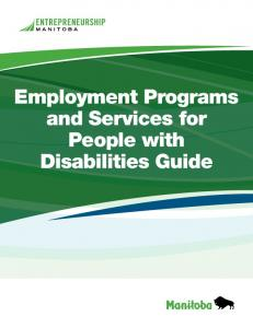 Employment Programs and Services for People with Disabilities Guide