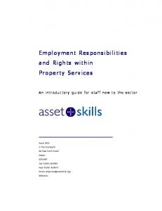 Employment Responsibilities and Rights within Property Services