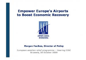 Empower Europe's Airports to Boost Economic Recovery