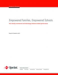Empowered Families, Empowered Schools