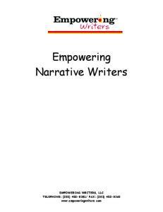 Empowering Narrative Writers
