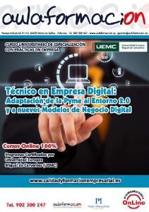 EMPRESA DIGITAL: ADAPTACION DE LA PYME AL ENTONO 2.0 Y A NUEVOS MODELOS DE NEGOCIO DIGITAL