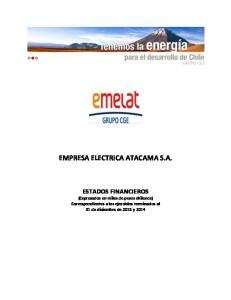 EMPRESA ELECTRICA ATACAMA S.A