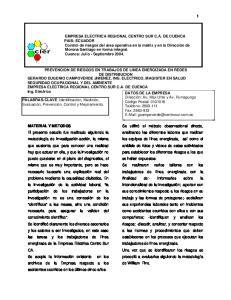 EMPRESA ELECTRICA REGIONAL CENTRO SUR C.A. DE CUENCA