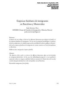 Empresas familiares de inmigrantes en Barcelona y Montevideo