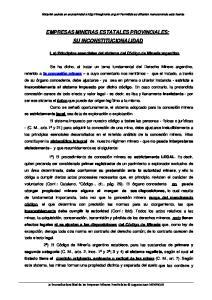EMPRESAS MINERAS ESTATALES PROVINCIALES: SU INCONSTITUCIONALIDAD