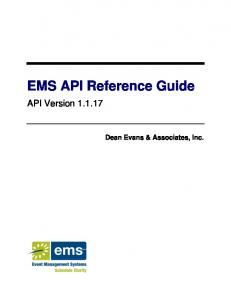 EMS API Reference Guide