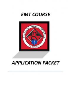 EMT COURSE APPLICATION PACKET