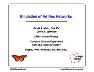 Emulation of Ad Hoc Networks