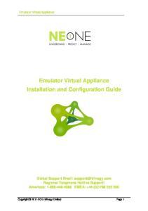 Emulator Virtual Appliance Installation and Configuration Guide
