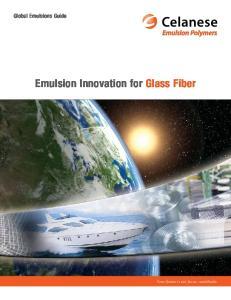 Emulsion Innovation for Glass Fiber