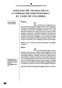 En Colombia se ha configurado un sistema