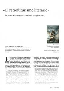En el contexto de la literatura especulativa. «El retrofuturismo literario» En torno a Steampunk: Antología retrofuturista