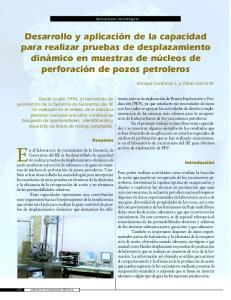 En el laboratorio de yacimientos de la Gerencia de