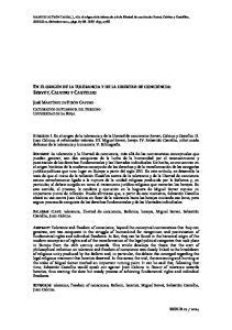 EN EL ORIGEN DE LA TOLERANCIA Y DE LA LIBERTAD DE CONCIENCIA: SERVET, CALVINO Y CASTELLIO