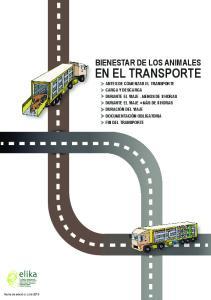 EN EL TRANSPORTE BIENESTAR DE LOS ANIMALES