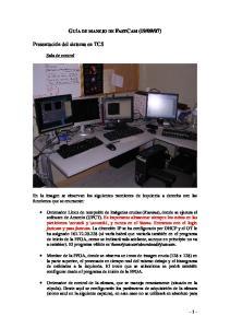 En la imagen se observan los siguientes monitores de izquierda a derecha con las funciones que se enumeran: