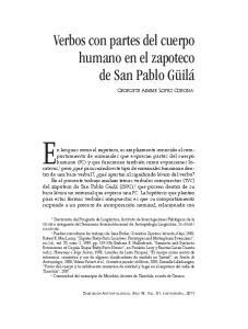 En lenguas como el zapoteco, es ampliamente conocido el comportamiento