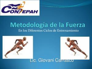 En los Diferentes Ciclos de Entrenamiento. Lic. Giovani Carrasco