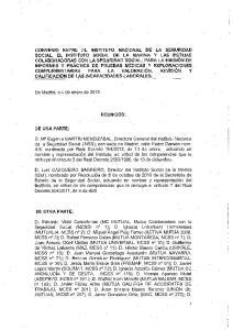 En Madrid, a 4 de enero de REUNIDOS: DE UNA PARTE: