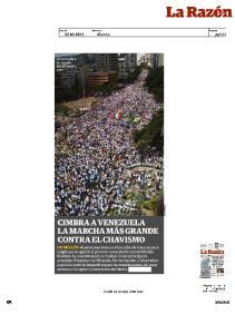 En marcha masiva opositores exigen a Maduro que se vaya