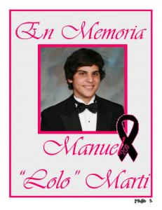 En Memoria. Manuel. Lolo Marti. Page 1