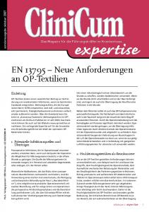 EN Neue Anforderungen an OP-Textilien