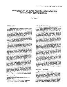 EN SEPSIS PELVICA, COMPARACION CON TERAPIA CONVENCIONAL