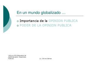 En un mundo globalizado