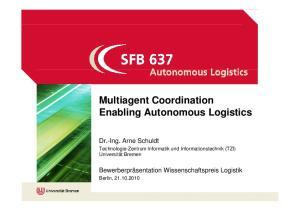 Enabling Autonomous Logistics