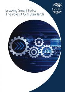 Enabling Smart Policy: The role of GRI Standards