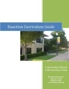 Enaction Curriculum Guide