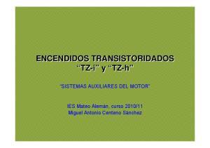 ENCENDIDOS TRANSISTORIDADOS TZ-i y TZ-h