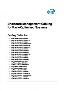Enclosure Management Cabling for Rack-Optimized Systems Cabling Guide for: