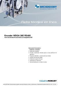 Encoder WDGA 36E RS485