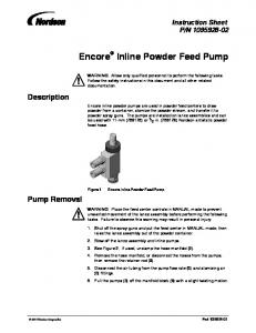 Encore Inline Powder Feed Pump