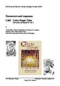 Encounters and responses Celtic Magic Tales Irish myths and legends for Year 5