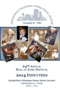 ENCOURAGING FOSTERING PROMOTING 24 TH ANNUAL HALL OF FAME FESTIVAL 2014 INDUCTEES