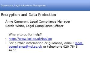 Encryption and Data Protection