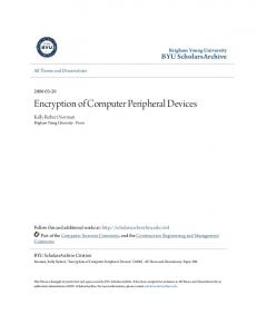 Encryption of Computer Peripheral Devices