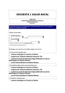ENCUESTA 1 SALUD BUCAL